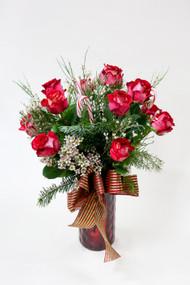 Candy Cane Lane Dozen Roses
