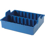 Insert Tray for Microfilm, capacity 16 tapes.  Order one for Single-tray container, two for Dual-tray container.  Color: dark blue.