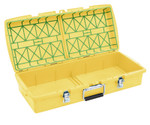 C2 Dual-tray Container, Yellow, Empty