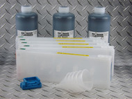 Refillable Cartridge Kit for the Epson Pro 7700/9700 with 3 x 1 liter bottles of Absolute Black ink for making Screen Separations