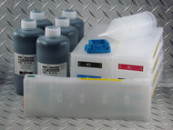 Refillable Cartridge Kit for the Epson Pro 7890/9890 with 5 x 1 liter bottles of i2i Absolute Black inks for making Screen Separations