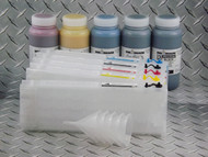 Refillable Cartridge Kit for the Epson SureColor T Series with 1 x 500 ml bottle of Absolute Black ink for making Screen Separations and 4 x 500 ml Bottles of i2i Cave Paint Elite T Series color pigment ink