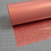 "Rose Gold Siser Glitter 20"" Roll (Click for Lengths)"