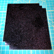 "Black Siser Glitter Three (3) 10"" x 12"" Sheets"