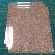 "Old Gold Siser Glitter Three (3) 10"" x 12"" Sheets"