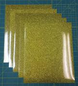 "Gold Siser Glitter Five (5) 10"" x 12"" Sheets"
