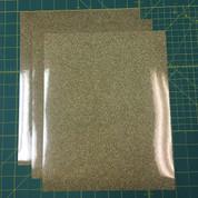 "Gold Confetti Siser Glitter Three (3) 10"" x 12"" Sheets"
