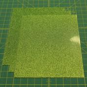 "Light Green Siser Glitter Three (3) 10"" x 12"" Sheets"