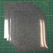 "Black Silver Siser Glitter Five (5) 10"" x 12"" Sheets"