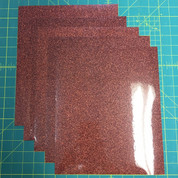 "Bronze Siser Glitter Five (5) 10"" x 12"" Sheets"