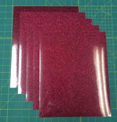 "Cherry Siser Glitter Five (5) 10"" x 12"" Sheets"