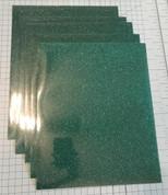 "Emerald Siser Glitter Five (5) 10"" x 12"" Sheets"