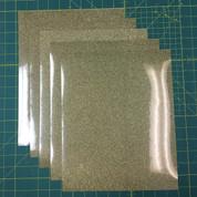 """Gold Confetti Siser Glitter Five (5) 10"""" x 12"""" Sheets"""