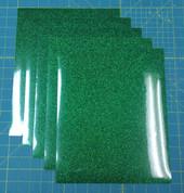 "Green Siser Glitter Five (5) 10"" x 12"" Sheets"