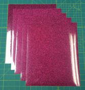 "Hot Pink Siser Glitter Five (5) 10"" x 12"" Sheets"