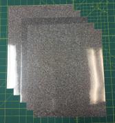 """Light Multi Siser Glitter Five (5) 10"""" x 12"""" Sheets"""