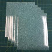 "Mint Siser Glitter Five (5) 10"" x 12"" Sheets"