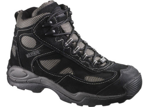 Wolverine W02074 Mens Slip Resistant ST Static Dissipating Mid Athletic Black Hiker Boot