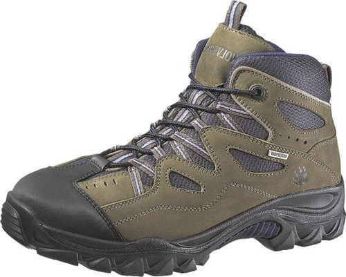 Wolverine W02626 Mens Durant Waterproof EH Slip Resistant Steel Toe Dark Grey-Navy Hiker
