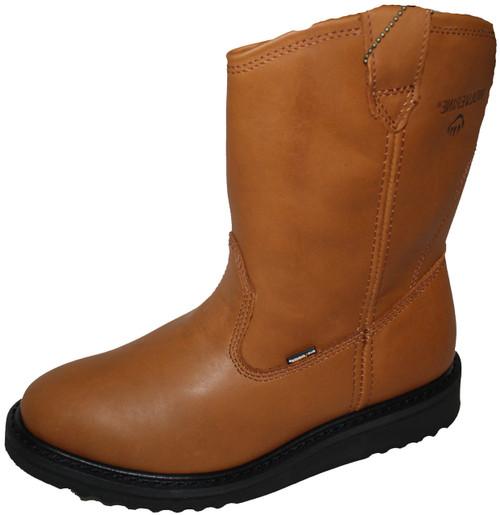 Wolverine W04695 Mens DuraShocks Slip Resistant Wedge-Heel 10 Inch Walnut Brown Wellington Boot
