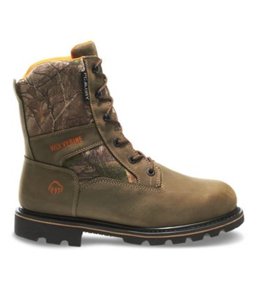 "Wolverine W30095 Mens Novack 8"" Soft Toe Waterproof Camo Hunting Boot"