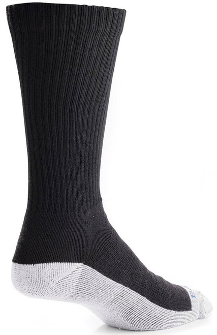 Bates Footwear Mid Calf Uniform Performance Black 1 Pk Socks Made in the USA