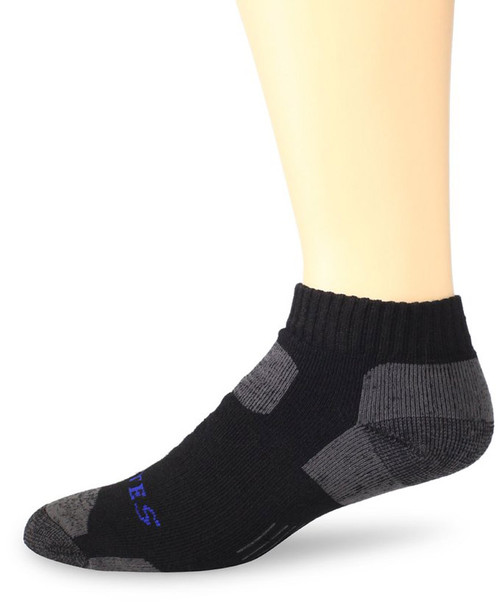 Bates Men's Tactical Low Cut Black 1 Pk Large Socks Made in the USA