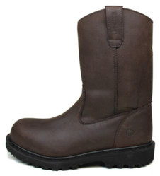 """Wolverine W08609 Mens O'Brien 11"""" Pull-On Brown Work Boots"""