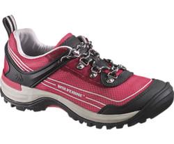 Wolverine W20176 Womens Impact Wind Waterproof Pink Hiker Shoe
