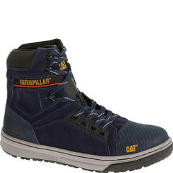 Caterpillar P90533 Mens Concave Hi Dark Navy Steel Toe Work Boot