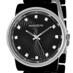Rousseau Women's Watch: Adele - Black/Silver w/ Silver Tone Bezel