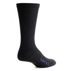 Bates Mens Performance Uniform Dress Black 1 Pk Medium Socks Made in the USA