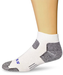 Bates Men's Tactical Low Cut White 1 Pk Large Socks Made in the USA
