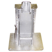 InMac-Kolstrand 'STANDARD' Steel Galvanized Seine Davit Socket Arrangement-for Laydown Style Davit Rollers