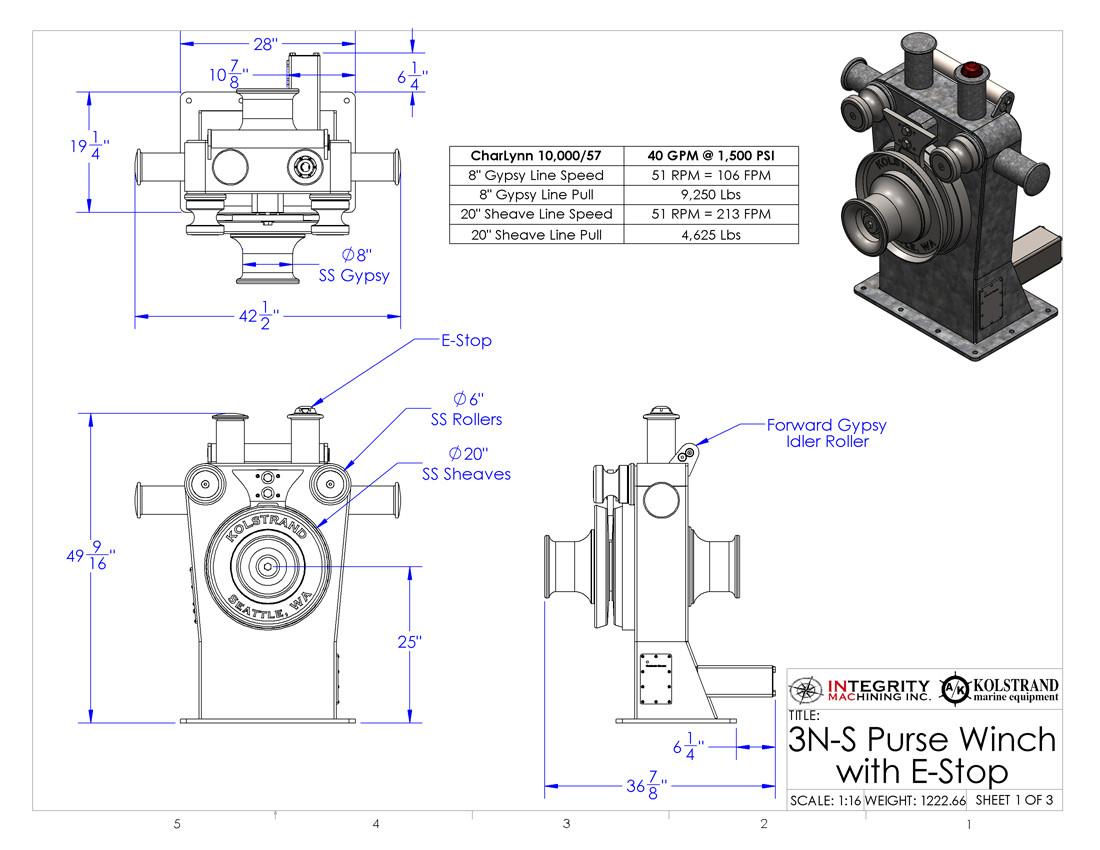 Akpsw 3n S Estop Kolstrand Steel Galvanized Purse Seine Winch Dominator Wiring Diagram Larger More Photos
