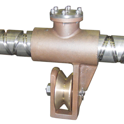 """LongLine Bronze Carrier (with Internal level Wind Pawl) with STD 4"""" Diameter Bronze Guide Roller"""