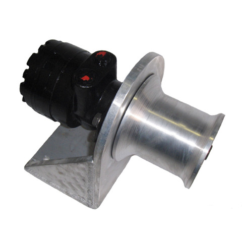 InMac-Kolstrand 4 Inch Capstan Winch with Bolt-Down Style Aluminum Frame and Gypsy Head