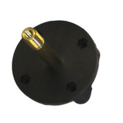 InMac-Kolstrand Nylon Mounting Flange With Brass Axle Installed into Flange, with S/S Pin - Piece 13ALH