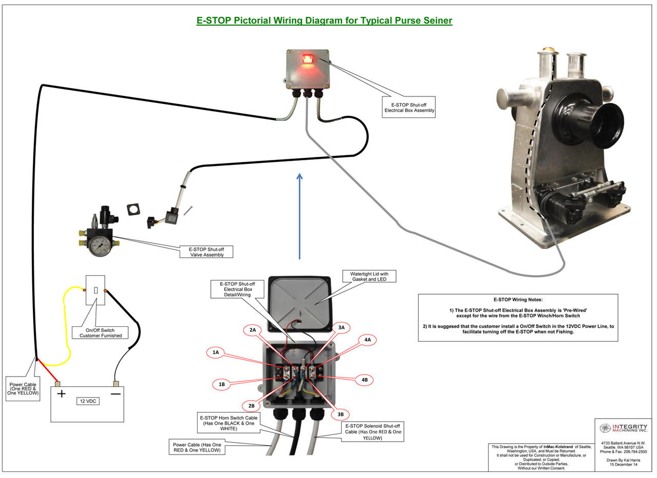 E Stop Kit 12v Inmac Kolstrand Emergency Switch For Pictorial Wiring Diagram Larger More Photos