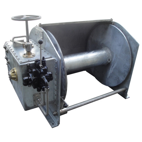 InMac-Kolstrand Steel Galvanized - Double Reduction - 34 Inch Anchor Winch - Model AKPHRW34D34W-No Gypsy