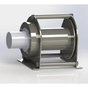 InMac-Kolstrand Stainless Steel Boom-Equal Speed Cargo Winch - 2,000 Lb Bare Drum Hoist Capacity