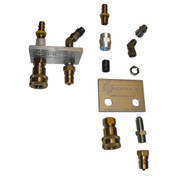 InMac-Kolstrand Pressure And Return Line Hose Assembly with Mounting Plate, Quick-Disconnect Couplers and Fittings for HPU Honda- for 5 H.P. and 8 H.P. - PC20
