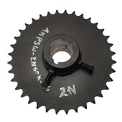 Kolstrand 2N Driven Gypsy Shaft Sprocket - No Locking Dog Ratchet