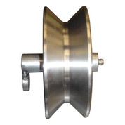 InMac-Kolstrand Stainless Steel 4 Inch Diameter by 1-3/4 Inch Roller with 3/4 Inch Roller Grease-Pin (for Diamond Screw Level Winds)