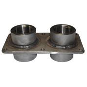 InMac-Kolstrand 1-1/2 Inch NPT Double Thru-Deck Fitting-Stainless Steel