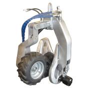 Kolstrand 16 Inch Power Block with Vulcanized Rubber Sheave and Yoke-mounted PowerGrip (No Swivel)