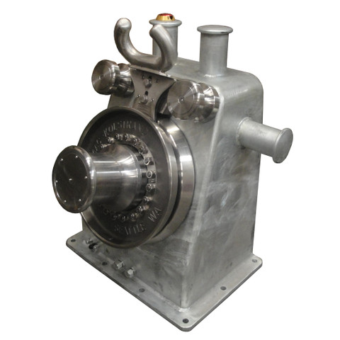 Kolstrand 'Purse Dominator' AKPSW24DD-SS-DIRECT Steel Galvanized Purse Seine Winch equipped with Direct-Drive Piston Motor, with 24 Inch Stainless Steel Sheaves and Steel Flamesprayed Gypsy Head, with E-STOP Emergency Kill Switch Arrangement