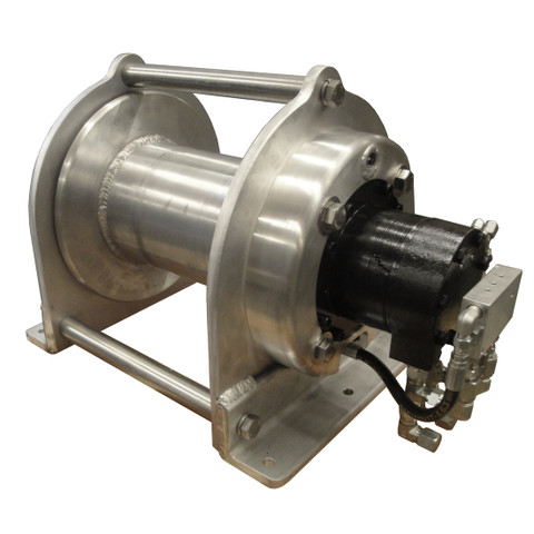 InMac-Kolstrand All Aluminum Boom-Equal Speed Cargo Winch with Brake