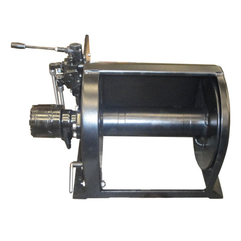 Kolstrand 14 Inch Anchor Winch - With 14 In Diameter X 16 In Wide Drum - Powder Coated Black