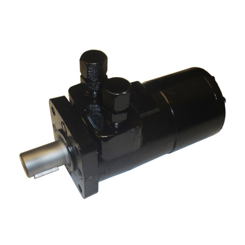 CharLynn 'H' Series Hydraulic Motor - CharLynn 101-1008 Flamesprayed & Painted, with #8 Straight JIC Fittings installed into the Working Ports